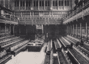 The Houses of Parliament - Interior of the house of Commons. London 1896 print
